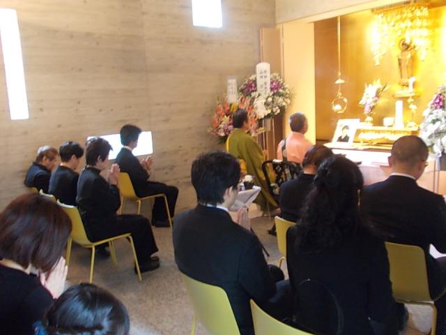 瑠璃堂での葬儀